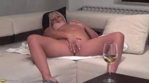 Mature Mom Rubbing Pussy