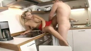 Huge Boobed Blonde Beatrix Fucked Well In The Kitchen