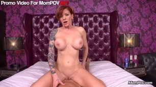 Hot Tattooed Redhead on Mom point of veiw