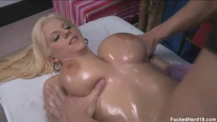 Haley Cummings Banged Hard On The Massage Couch