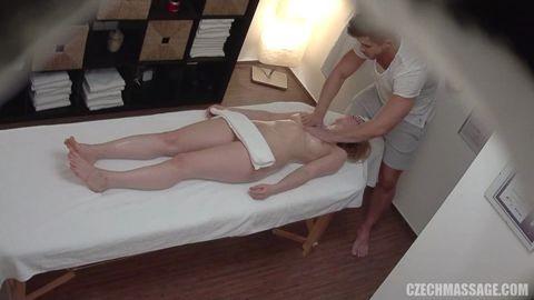 Czechmassage Oil Massage Sex Hot Blonde Girl Gets A Sensual Ma