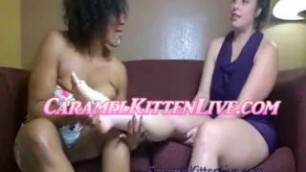Interracial Balloon & Foot Fetish (Caramel Kitten Live & Virgo Peridot)(Looners) Brcc Bella