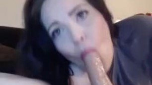 Wife Stuffs His Cock And Balls In Mouth Brcc Bella