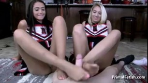 Footjob With Cheerleader Pantyhose Please Porn
