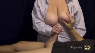 Busty Wife Gives An Amazing Cock Massage Until Perfect Cock Handjob On Tits Vid2c