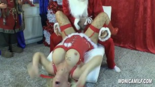 Monica Bangs Santa As A Gift For Christmas