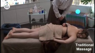 JAPANESE MASSAGE - Man massaging her ass