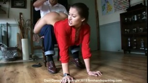 Hottest Girl DANI DANIELS WHEELBARROW SPANKING
