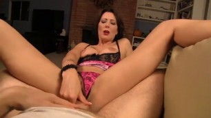 Milf Zoey Holloway Point Of Veiw Footjob And Handjob Brunette Pantyhose Nylon Dirty Talk