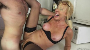 54 year milf get fucked in the kitchen