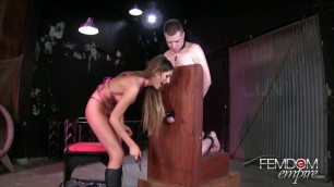 Very Nice Sex August Ames Disfiguring Cock and Balls