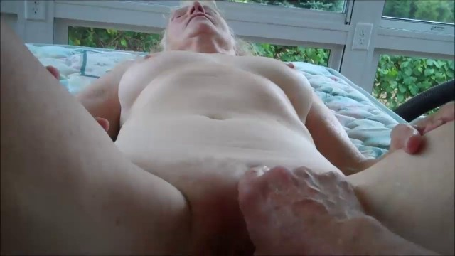 He Likes Fingering Her 70 Year Old Pussy