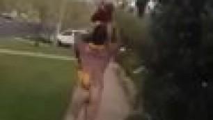 Naked Straight Guy Running Around