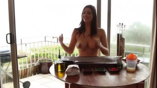 Naked Girl Cooking