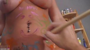 Nikki Sims Tight Pussy Paint