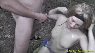 Dirty Whore Pissed On Highway Again