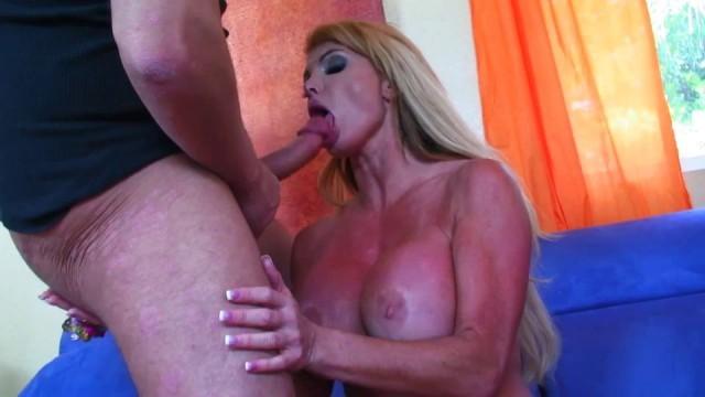 Sexy Blonde MILF with big tits get laid like a slut