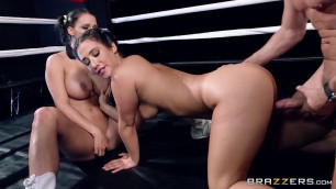 Eva Lovia & Peta Jensen Hot fuck on the boxing show hot brunettes Girls porn