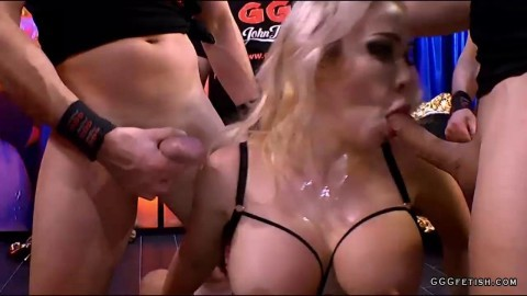 Chessie kay gets gangbang with cums and facials