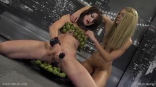 Green Bikini girl big tits