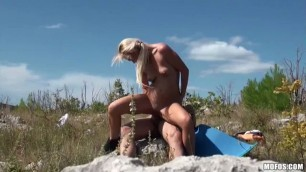 Bea Steel Voyeur Films a Couple Fucking Outdoors