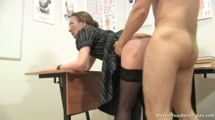 Mature teacher Fucks student after class