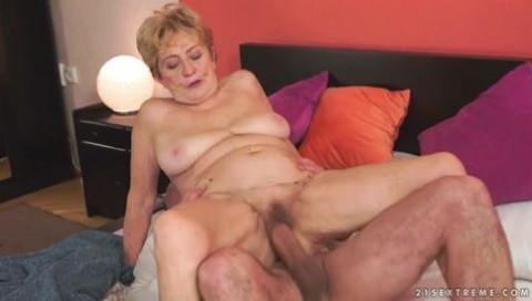 Having sex with granny