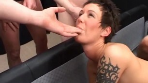 Extreme English Bukkake Gangbang Young