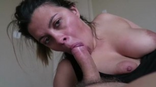 big natural boobs wife swallow work