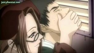 Cute Hentai Babe Getting Jizzload anime blowjob cartoon