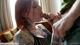 British redhead punk whore for anal casting