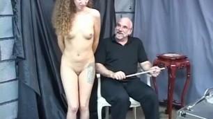 A mature man teaches a petite teen pussy
