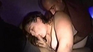 Bisexual bear hubby and bitch wife enjoying a huge cock