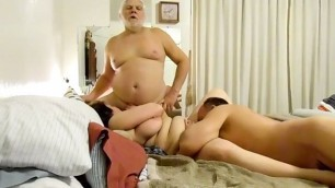 Plump latina bitch wife having sex with hubby and friend