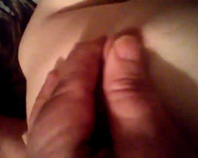 Playing with wifes tits milf getting fucked