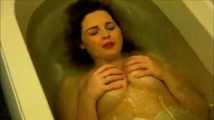 Within the bathtub having a nighty big tits