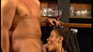 France braided slutty milf fucks in a bar