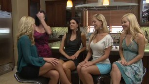 Hot young lesbians meeting in the hotel bar