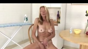 Blonde desi pussy mature fucks herself with a banana
