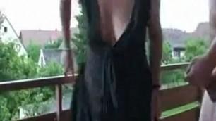 Sex movie slutty mature bitch wife doggystyled on the balcony
