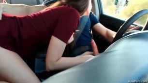 Sexy mature jessi gets wild in the car