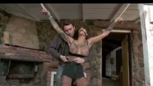 Tied up bonnie rotten fucked hard in all her holes