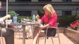 Blonde roxanne business woman