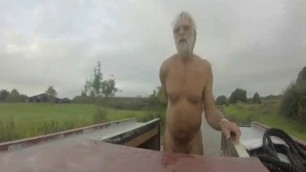 Canal boat gay homemade video public scene