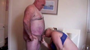 Bear dad horny bbw harlow threesome