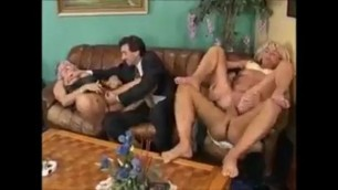 Grey haired mature amina in a group sex