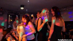 Group fuck in a hot nightclub with a lot of people