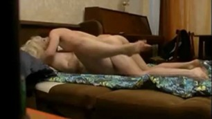 Curvy milf fucked by younger man on hidden camera