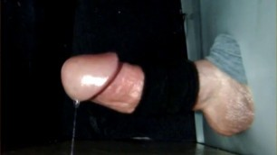 Throbbing dick cums from estim start to finish