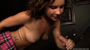 Katie St Ives loves gloryholes as youll see hardcore